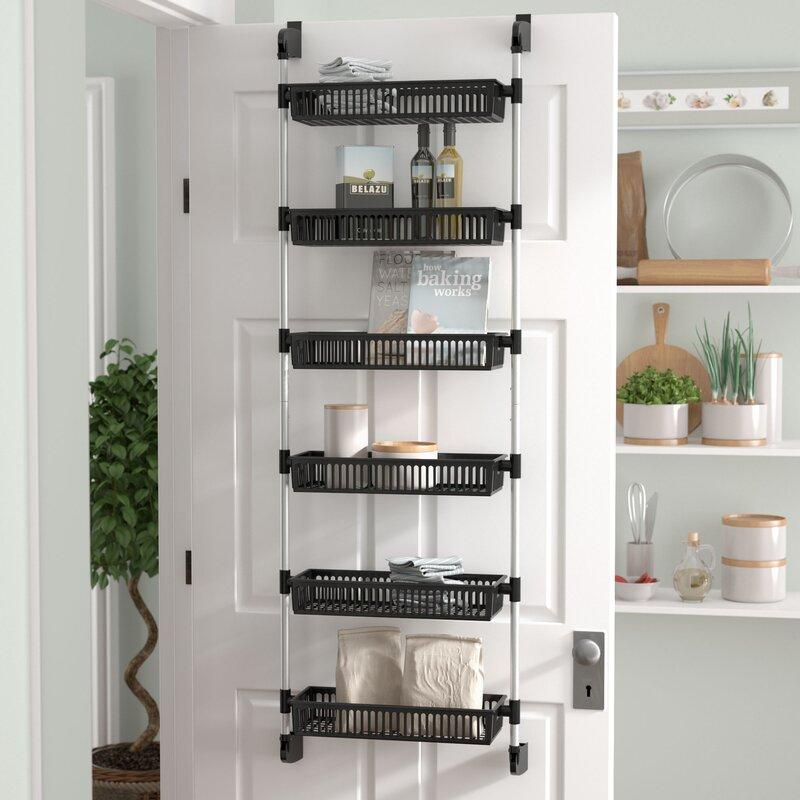 Prestridge Overdoor 6 Shelf Cabinet Door Organizer