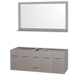 Centra 59 Double Bathroom Vanity Base by Wyndham Collection