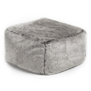 Silas Faux Fur Square Pouffe By Norden Home