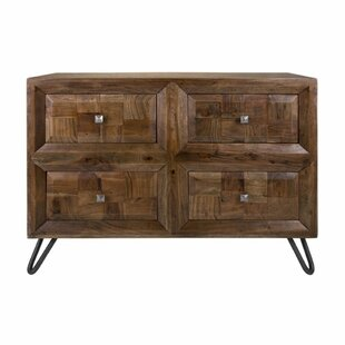 Aslan Hairpin Legs 4 Drawer Accent Chest by Foundry Select