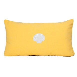 Mirabal Scallop Beach Outdoor Sunbrella Lumbar Pillow