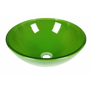 Best Choices Glass Circular Vessel Bathroom Sink ByJano Sanitary