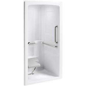 one piece corner shower. Freewill 45  x 37 1 4 84 One Piece Corner Shower Stall Wayfair