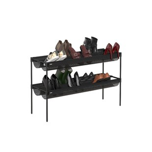 Review 16 Pair Stackable Shoe Rack