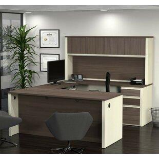 Kenworthy U-Shape Executive Desk With Hutch by Ebern Designs Great price