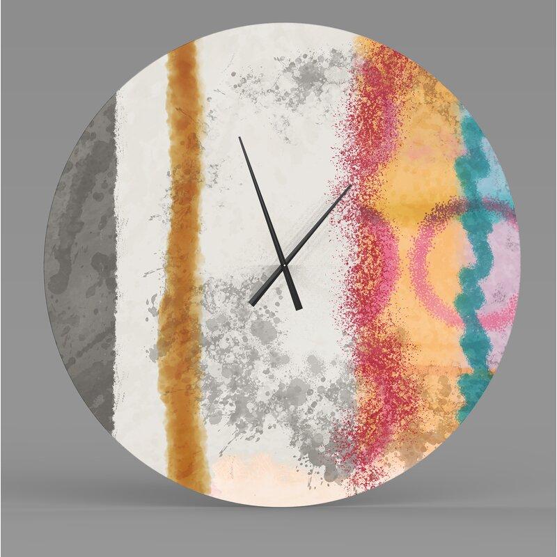 Latitude Run Tempean Radiant Abstract Metal Wall Clock Wayfair Ca