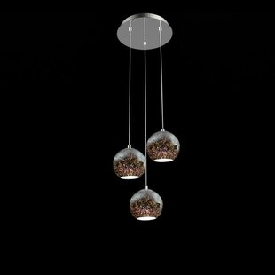 Unger 3-Light Cluster Pendant by Wrought Studio