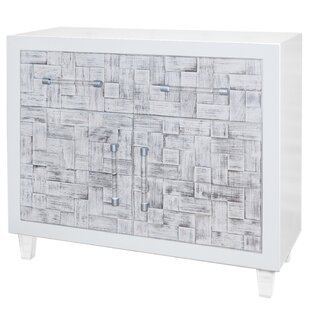 Scarborough Weave 2 Door Accent Cabinet by Rosecliff Heights