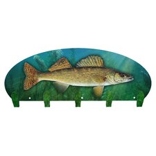 Walleye 5 Hook Coat Rack by Next Innovations