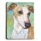 Whippet by Ursula Dodge Graphic Art Plaque