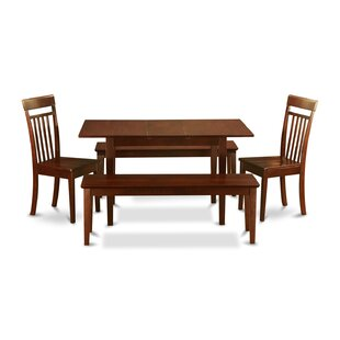 Balfor 5 Piece Solid Wood Breakfast Nook Dining Set