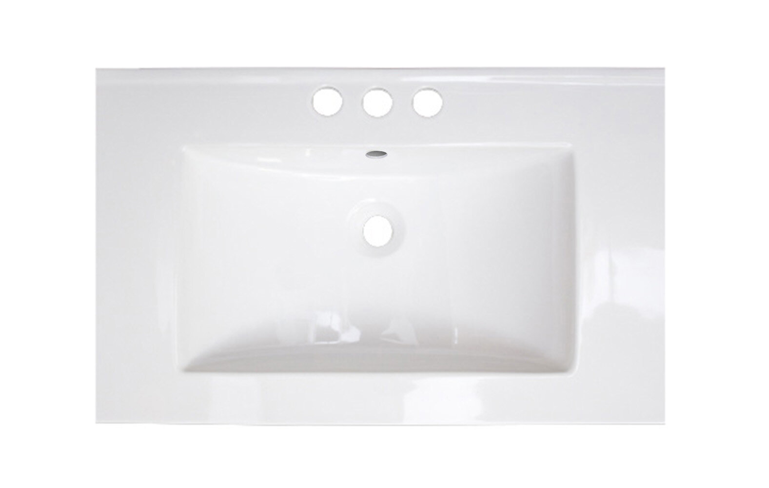 Ebern Designs Balalan Ceramic 24 Single Bathroom Vanity Top Wayfair