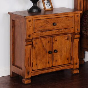 Fresno 1 Drawer Nightstand by Loon Peak Cheap