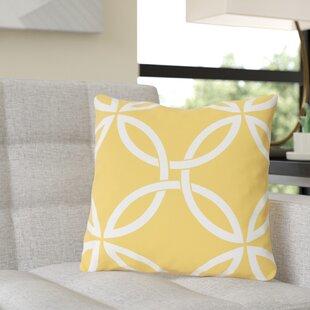 Jenkintown Interwoven Circles Outdoor Throw Pillow