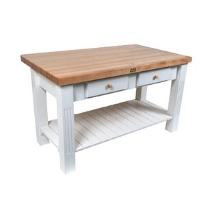 American Heritage Kitchen Island with Butcher Block John Boos