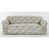 Toile Print One Piece Box Cushion Sofa Slipcover by Ophelia & Co.