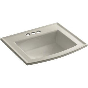 Kohler Archer Vitreous China Rectangular Drop-In Bathroom Sink with Overflow