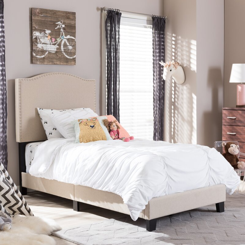 Wholesale Interiors Baxton Studio Twin Upholstered Panel Bed Wayfair