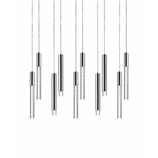 Kara 10-Light Cluster Pendant by Radionic Hi Tech