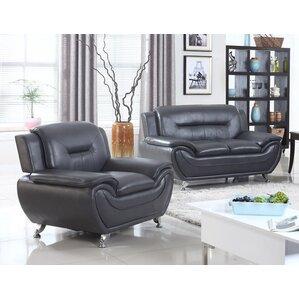 Latitude Run LDER5059 2 Piece Loveseat and Chair Set