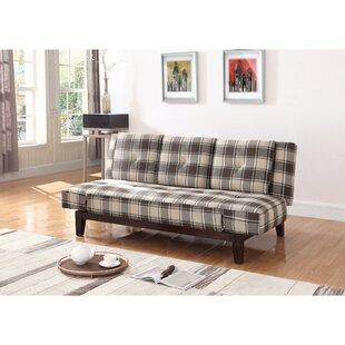 Millwood Pines Vantassel Mid Century Plaid Convertible Sofa