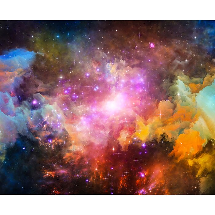 Galaxy Stars 8 1 X 118 6 Piece Wall Mural Set