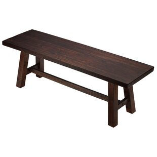 Mylinda Wood Bench by Union Rustic