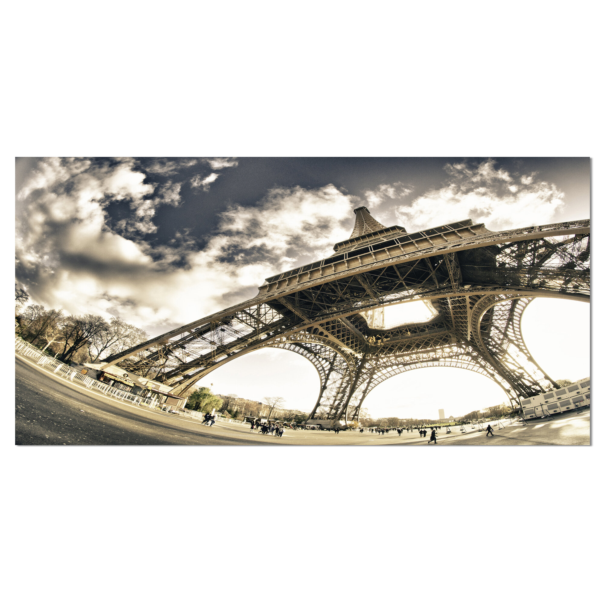 Designart Eiffel Tower In Sunny Winter Morning Photographic Print On Wrapped Canvas Wayfair