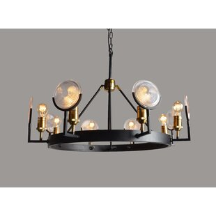 17 Stories Henriqueta 8-Light Wagon Wheel Chandelier