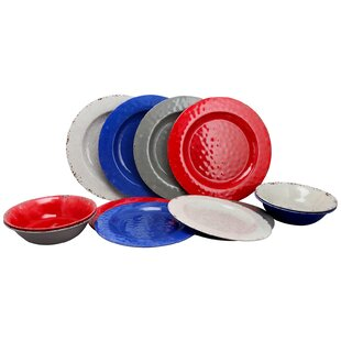 Savanah 12 Piece Melamine Dinnerware Set, Service for 4