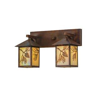 Meyda Tiffany Greenbriar Oak Balsam Pine 2-Light Vanity Light
