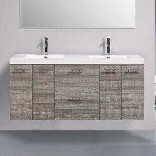 Ophir 72 Wall-Mounted Double Bathroom Vanity