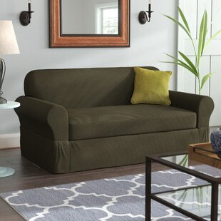 Best Deals Box Cushion Sofa Slipcover by Darby Home Co Reviews (2019) & Buyer's Guide