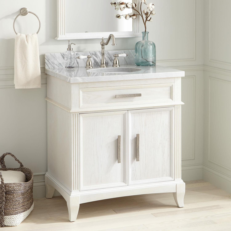 Signature Hardware Livia 31 Single Bathroom Vanity Set Wayfair