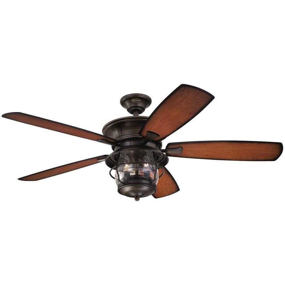 52 Quebec 5 Blade Outdoor Ceiling Fan Light Kit Included Reviews Joss Main