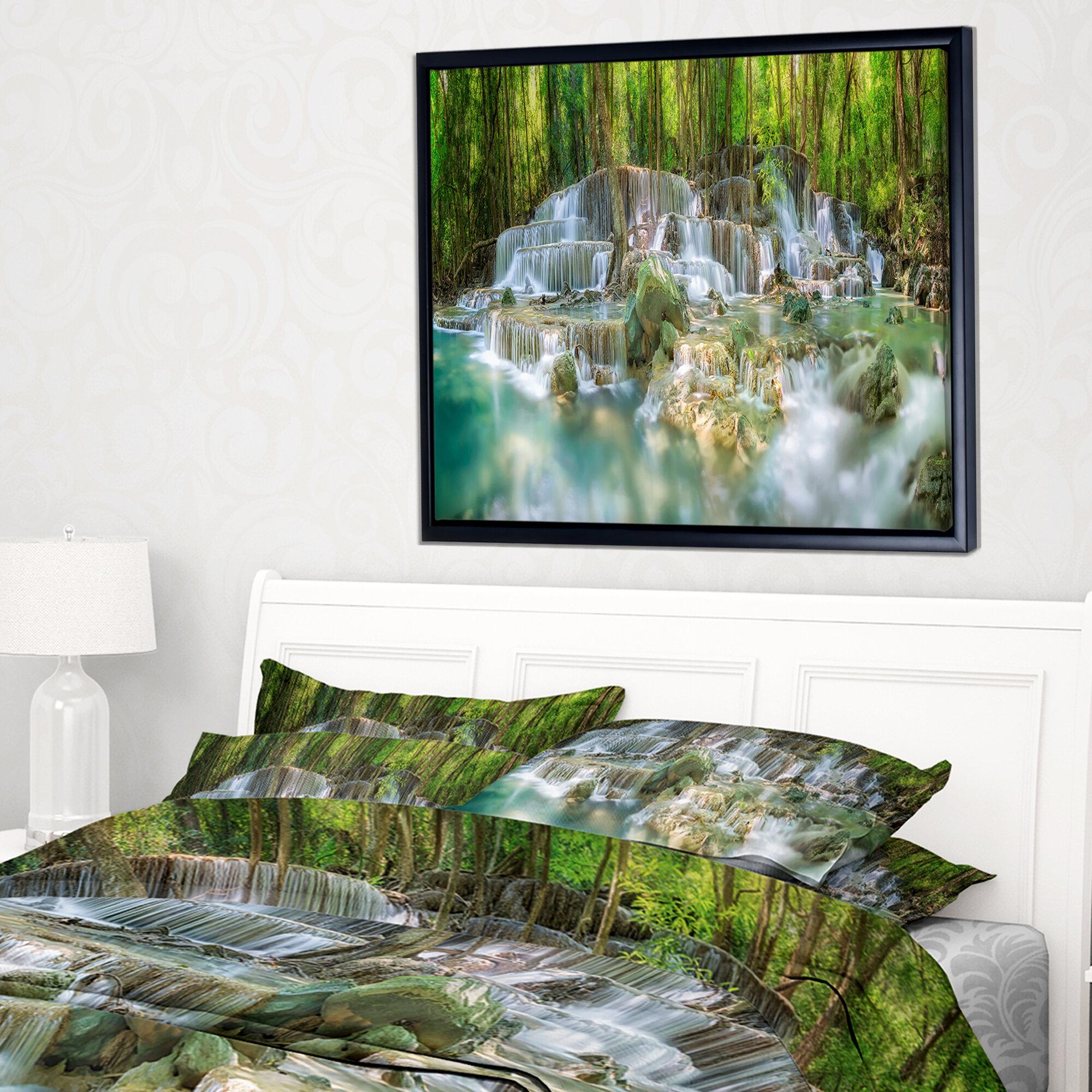 East Urban Home Level 6 Of Huaimaekamin Waterfall Framed Graphic Art Print On Wrapped Canvas Wayfair