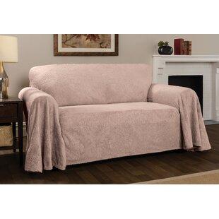 Plush Damask Throw Sofa Slipcover by Winston Porter