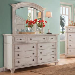 Dorinda 9 Drawer Dresser with Mirror