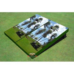 All American Tailgate Golf Palm Trees Cornhole Board (Set of 2)