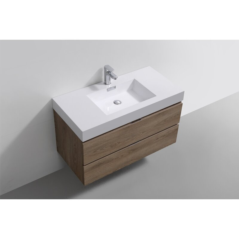 Wade Logan Malakai 40 Wall Mounted Single Bathroom Vanity Set Wayfair