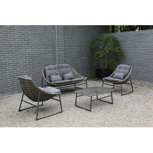 Clapham 4 Piece Rattan Sofa Set with Cushions