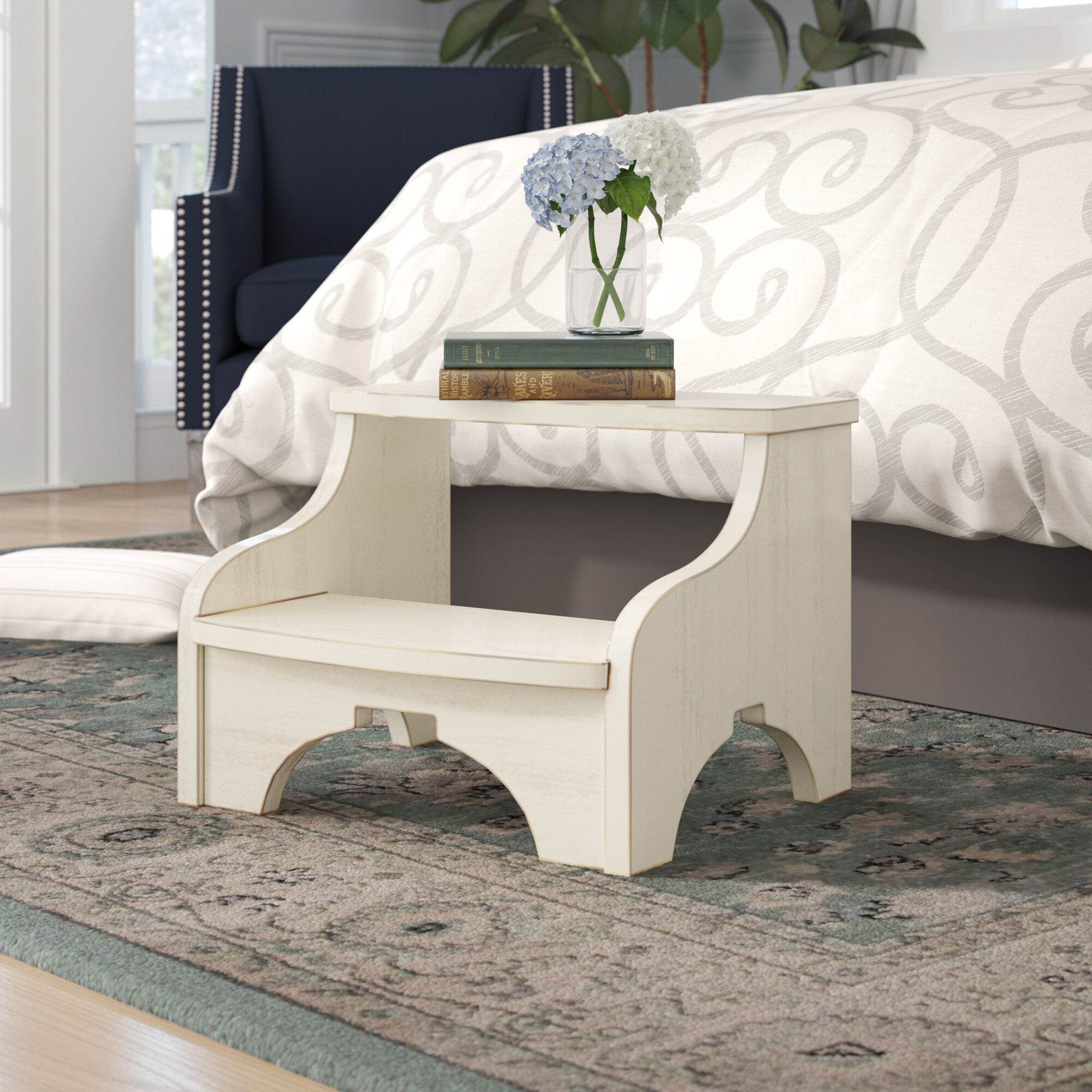 Excellent Rosehill 2 Step Wood Step Stool Creativecarmelina Interior Chair Design Creativecarmelinacom