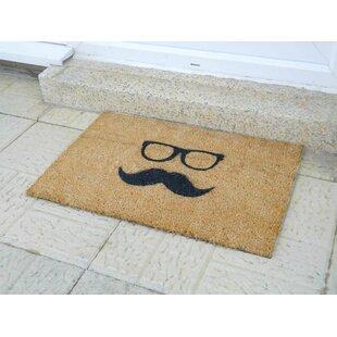 Mustache and Glasses Doormat by Artsy Doormats