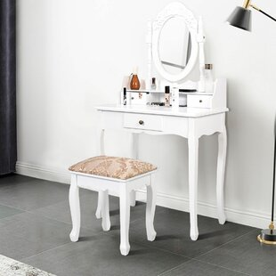 Madison Avenue Vanity Set with Mirror by Charlton Home