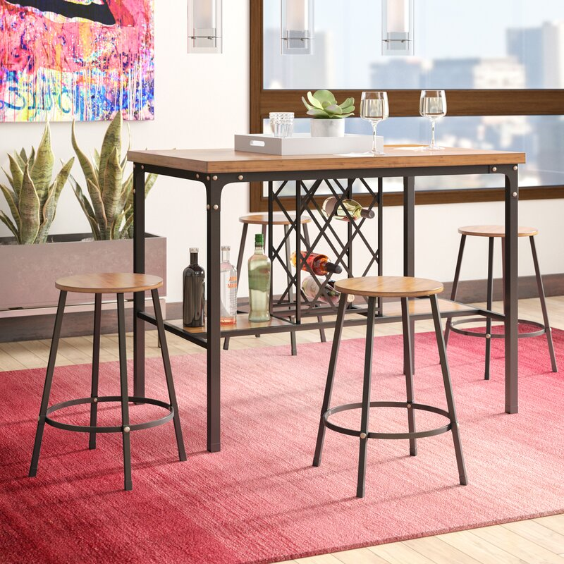 Latitude Run Calla 5 Piece Pub Table Set & Reviews | Wayfair