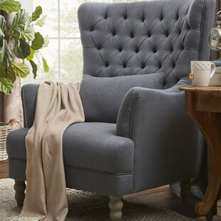 Best Reviews Spring Ridge Wingback Chair by One Allium Way
