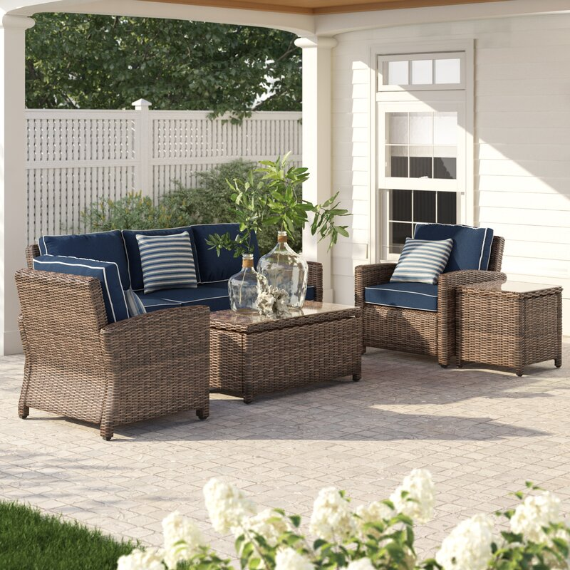 Birch Lane Lawson 5 Piece Sofa Seating Group with Cushions