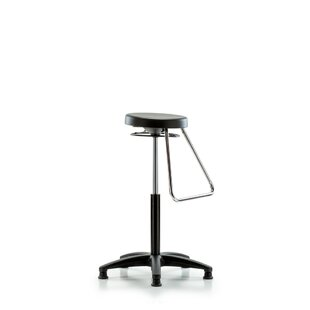 Height Adjustable Stool with Fixed Foot Rest