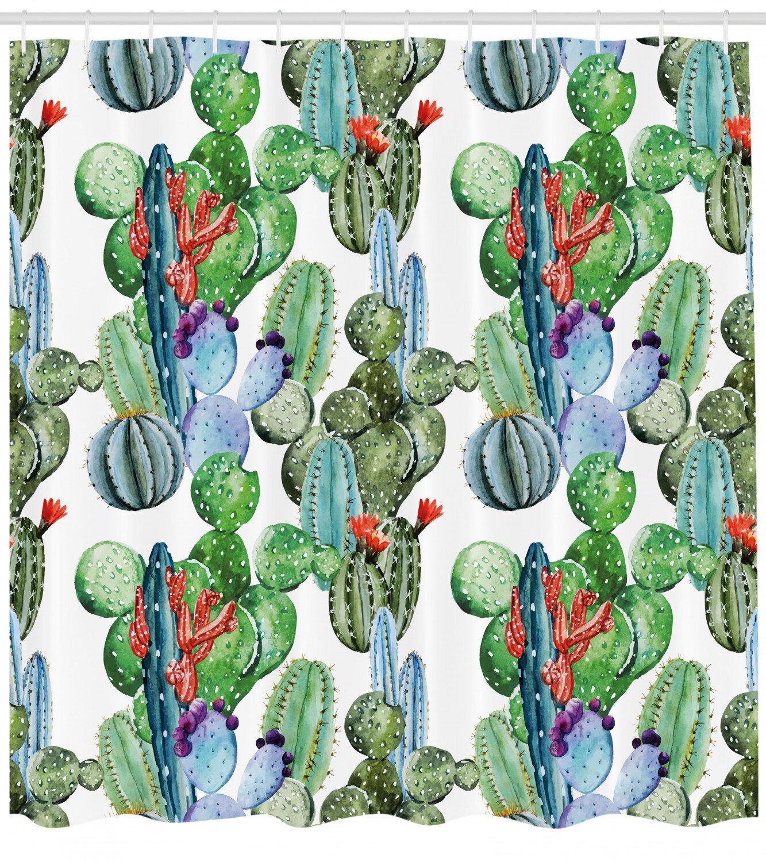 East Urban Home Cactus Shower Curtain Set Hooks Wayfair