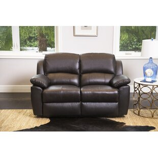 Darby Home Co Blackmoor Leather Reclining Loveseat